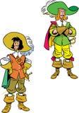 Zwei Karikatur Musketiere Stockbilder