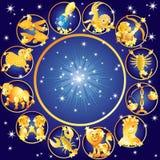 Zwei Karikaturfische horoskop Stockfotografie