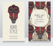Zwei Karten für boho Art Stockbilder