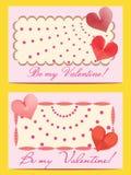 Zwei Karten sind mein Valentinsgruß. Stockfotos