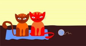 Zwei Katzen Lizenzfreie Stockfotografie