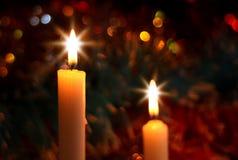 Zwei Kerze Stockfotos