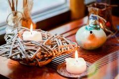 Zwei Kerzen stockfotos
