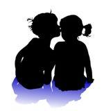 Zwei Kinder vektor abbildung