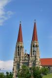 Zwei Kirchtürme Stockbilder