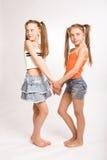 Zwei kleine blonde Mädchen Lizenzfreie Stockfotos