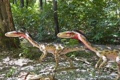 Zwei kleine Dinosauriere Stockfotografie