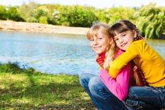 Zwei kleine Mädchen Lizenzfreies Stockbild
