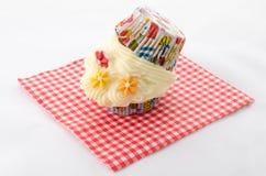 Zwei kleiner Kuchen buttercream Lizenzfreies Stockbild