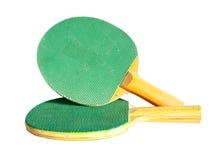 Zwei Klingeln pong Paddel lizenzfreies stockfoto