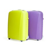 Zwei Koffer auf Weiß Lizenzfreies Stockbild