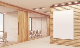 Zwei Konferenzzimmer und sonnenbeschienes Plakat Stockbilder