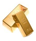 Goldbarren auf Weiß Lizenzfreie Stockfotografie