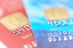 Zwei Kreditkarten Stockfoto