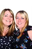 Zwei lächelnde Frauen Stockbilder