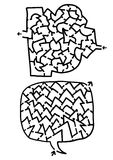 Zwei Labyrinthe Lizenzfreie Stockbilder