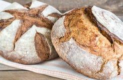 Zwei Laibe Brot Lizenzfreies Stockfoto