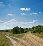 Zwei landwirtschaftliche Straßen Lizenzfreie Stockfotos