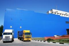 Zwei Lastwagen Lizenzfreies Stockfoto