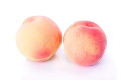 Zwei leckere Pfirsiche lizenzfreie stockfotos
