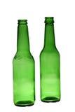 Zwei leere Flaschen Stockfotos