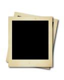 Zwei leere polaroidkarten Stockbild