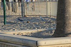 Zwei leere Schwingen-Sitze in Sandy Park Stockfotos