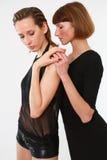 Zwei leidenschaftliche Frauen Lizenzfreie Stockfotografie