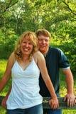 Zwei Leute in der Liebe Stockfotos