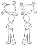 Zwei Leute sind von der unterschiedlichen Meinung stock abbildung