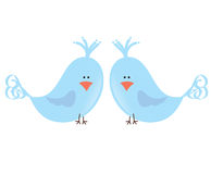 Zwei Liebesvögel Stockbilder
