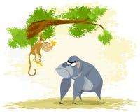 Zwei lustige Affen Lizenzfreie Stockbilder
