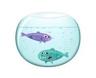 Zwei lustige Fische Lizenzfreie Stockfotos