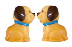 Zwei lustige Hunde lokalisiert auf Weiß lizenzfreies stockbild
