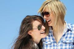 Zwei Mädchen Stockbilder