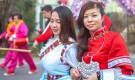 Zwei Mädchen stockbild