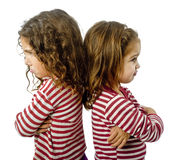 Zwei Mädchen im Streit Lizenzfreie Stockfotografie