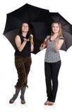 Zwei Mädchen verstecken sich von Lizenzfreies Stockfoto