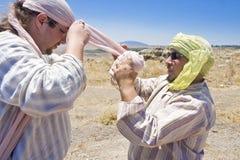 Zwei Männer plattiert als Saracens Lizenzfreies Stockbild