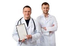 Zwei männliche Doktoren Stockfotografie