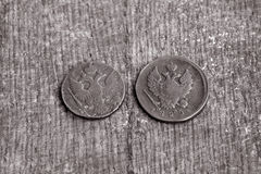 Zwei Münzen Stockfoto
