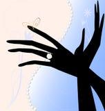 Zwei magische Hände Stockbild