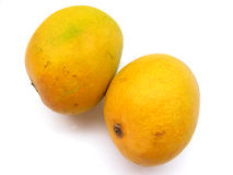 Zwei Mangofrüchte Lizenzfreie Stockbilder