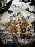 Zwei-mannsein herauf Berge lizenzfreie stockbilder