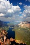 Zwei Medicine See von der Montierung Sinopah Lizenzfreies Stockfoto