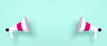 Zwei Megaphone Lizenzfreies Stockfoto