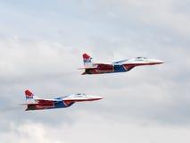 Zwei MiG-29 Swifts Lizenzfreies Stockbild