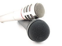 Zwei Mikrophone Lizenzfreies Stockfoto