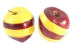 Zwei Mischäpfel Stockfotos