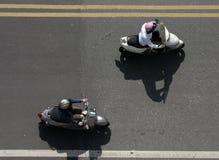Zwei Mopeds Lizenzfreies Stockfoto